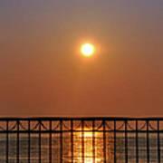 Balcony Sunrise Art Print