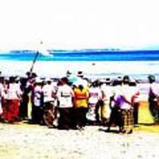 Balinese Beach In Mourning Art Print