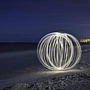 Ball Of Light Marco Island Beach Art Print
