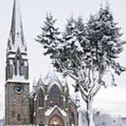 Ballater Church In Snow Art Print