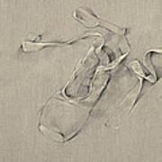 Ballerina's Slippers Art Print