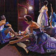 Ballet Behind The Scenes Art Print
