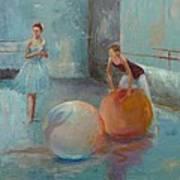Ballet Class With Balls Art Print by Irena  Jablonski