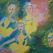 Ballet Of The Blooms Art Print