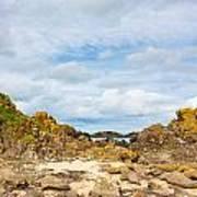 Ballintoy Bay Basalt Rock Art Print