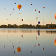 Balloon Festival Art Print by Lightvision, LLC