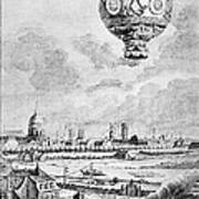 Balloon Flight, 1783 Art Print