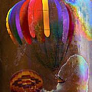 Balloon Racing Art Print