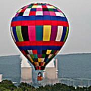 Ballooning Between The Stacks Art Print