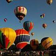 Balloons At Flight Art Print