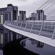 Baltic And Gateshead Millennium Bridge Art Print