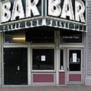 Baltimore Bar Art Print