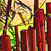 Bamboo Wind Chimes Art Print
