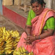 Banana Seller Art Print