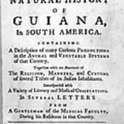 Bancroft: Title Page, 1769 Art Print