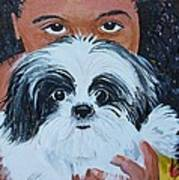 Bandit And Me Print by Peggy Patti