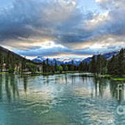 Banff And The Bow River - 01 Art Print