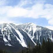 Banff Ski Runs Art Print by Wayne Bonney