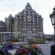 Banff Springs Hotel In The Canadian Rocky Mountains Art Print
