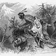 Banknote: Native American Attack Art Print