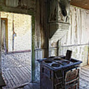 Bannack Ghost Town Kitchen Stove 2 Art Print