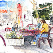 Bar Avenida En El Albir In Spain Art Print