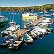 Bar Harbor Boat Dock Art Print