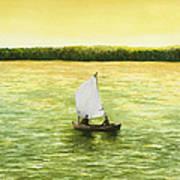 Bar Harbor Sailboat Art Print