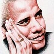 Barack Obama Art Print by A Karron