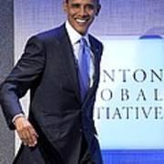 Barack Obama In Attendance For Annual Art Print