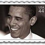 Barack Obama Portrait. Photographer Ellis Christopher Art Print
