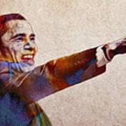Barack Obama Watercolor Art Print by Steve K
