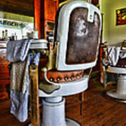 Barber - Barber Chair Art Print by Paul Ward