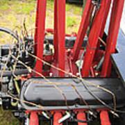 Barbwire Engine Art Print
