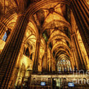 Barcelona Cathedral  Art Print