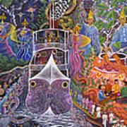 Barco Fantasma Art Print