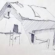Barn 3 Art Print by Rod Ismay