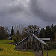 Barn And Sky Art Print