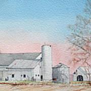 Barn And Sycamore Art Print