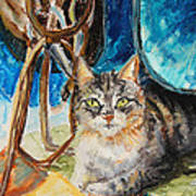 Barn Cat Art Print