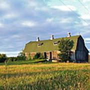 Barn In A Golden Field Art Print