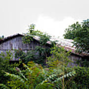 Barn In The Storm Art Print