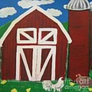 Barn On The Farm Art Print