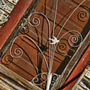 Barn Swallow Gracing Historial Train Station Door Art Print