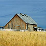 Barn With Stormy Skies Art Print