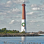 Barnegat Lighthouse - New Jersey - Christmas Card Art Print