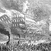 Barnums Museum Fire, 1865 Art Print