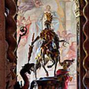 Barock Altar Of Weltenburg Monastery Church Art Print