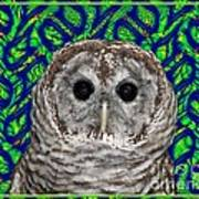 Barred Owl In A Fractal Tree Art Print