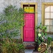 Barrio Door Pink And Gray Art Print